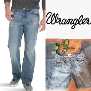 Mens Wrangler Jeans Relaxed Boot Cut